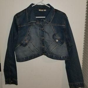 Cato cropped jean jacket size 18/20 ( m10 )